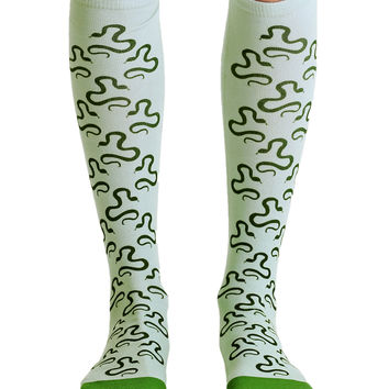 Slithering Snake Knee High Socks