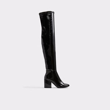 Belinna Black Patent Women's Over-the-knee boots | ALDO US