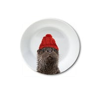 "Holiday Appetizer Plate 6"" - Olly the Otter"