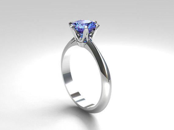 corn flower blue wedding rings