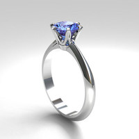 cornflower Blue sapphire engagement ring, white gold, solitaire engagement, unique, blue wedding, sapphire engagement, light blue sapphire