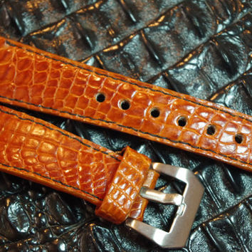 26 mm Genuine Alligator Leather Strap/Band Custom Made Strap For Panerai
