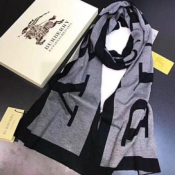 Perfect Burberry Women Wool Scarf Shawl Scar