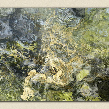 "Large abstract stretched canvas print, 30x40 to 40x54, in neutral tones, ""Hold On"""