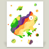 Space Frog 2 Art Print by lollipoplake on BoomBoomPrints