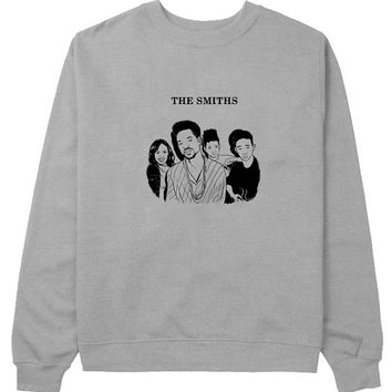 the smiths sweater Gray Sweatshirt Crewneck Men or Women for Unisex Size with variant colour