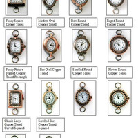 Watch Face, Geneva Copper Toned Watch Faces,Beading Watch Face-1 Piece