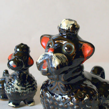 FABULOUS 50s DOGS // Retro DOG Figurine // Collectible Vintage Poodles // Scottie Dog // Cute Animals