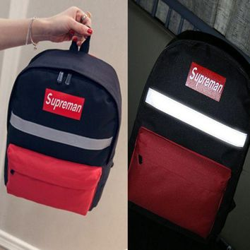 PEAPON Supreme:Reflective  Casual Sport Laptop Bag Shoulder School Bag Backpack