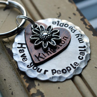 Large Dog Tag, Collar Tag, Have your people call my people -Summer Daisy-Aluminum, Dog Tag, Pet Tags, Custom Dog Tag