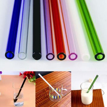 Handmade Healthy Glass Straw ECO-friendly Household Glass Straight Pipet Tubularis Snore Piece Tube