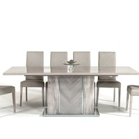 Nova Domus Alexa Italian Modern Grey Extendable Dining Table