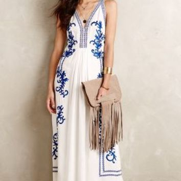 Aska Embroidered Maxi Dress by Ranna Gill White