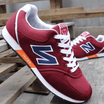 ONETOW fashion online new balance women men casual running sport shoes sneakers red