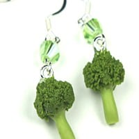 Broccoli Dangle Earrings