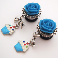 Glamsquared — Kitschy Cute Cupcake Dangle Plugs