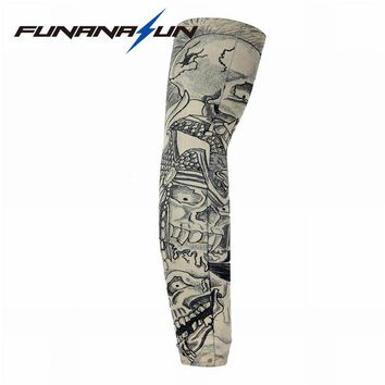 Unisex Cycling Sunshade Arm Sleeves Elastic Tattoo Cuff Covers Fishing Running Breathable Oversleeve Outdoor Arm Warmer