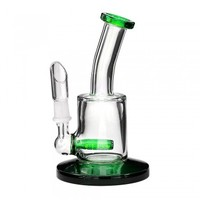 """5.5"""" USA Made Oil Rig w/ Inline Perc Green 10mm"""