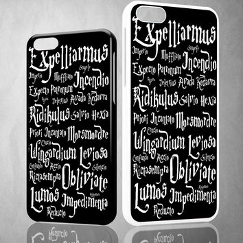 Harry Potter Black Magic Spells Z1367 iPhone 4S 5S 5C 6 6Plus, iPod 4 5, LG G2 G3 Nexus 4 5, Sony Z2 Case