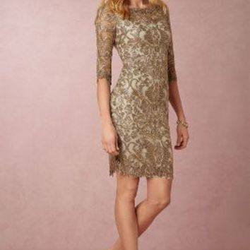 Hartley  Wedding Guest  Wedding Guest Dress by Anthropologie x BHLDN in Smoke Pearl Size: