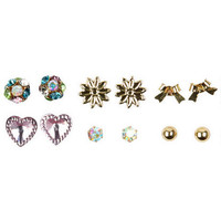 6-On Gem/Stud/Flower/Heart/Bow Set