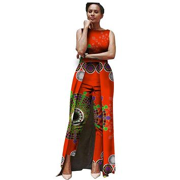 Summer Jumpsuit Women 2017 fashion Bodysuit Africa Traditional Clothing print batik Jumpsuit Customized big Size 6XL none WY503