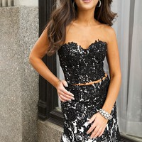 Strapless Two-Piece Dress 20341 - Prom Dresses