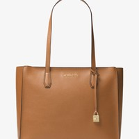 Mercer Large Top-Zip Leather Tote | Michael Kors