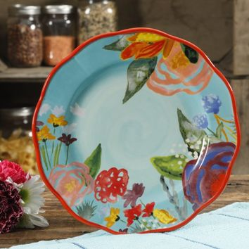 The Pioneer Woman Celia Teal 8.75-Inch Salad Plate - Walmart.com