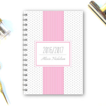 Planner 2016 Weekly Planner Custom Planner Journal 2016 Diary Notebook Custom Gift A4 Planner Gift for friend Student Planner