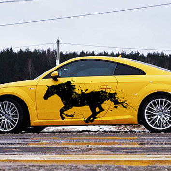 horse car hood decal horse Car Decals horse Car Truck horse Side Body Graphics Decal horse Sticker for car kikcar44