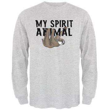 LMFCY8 Sloth My Spirit Animal Mens Long Sleeve T Shirt