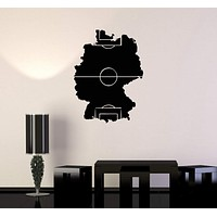 Vinyl Decal Soccer Field Football Sports Fan Boys Room Wall Stickers Unique Gift (ig2768)