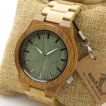 Men's Bamboo Wood Watch
