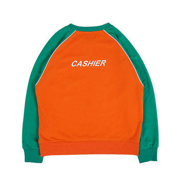 LLANO Cashier Retro Color Block Sweatshirt
