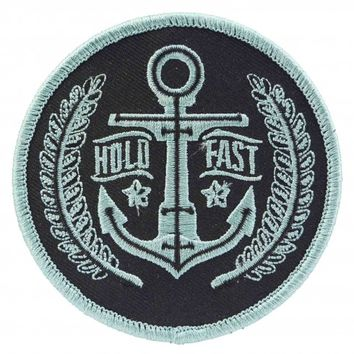 Sourpuss Hold Fast Anchor Iron On Patch | Nautical Rockabilly Retro