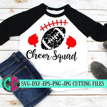 Grunge football svg, Cheer squad svg, cheerleader svg, football SVG, Cheerleading, cheerleader cut file, Cheer Mom SVG, svg for cricut