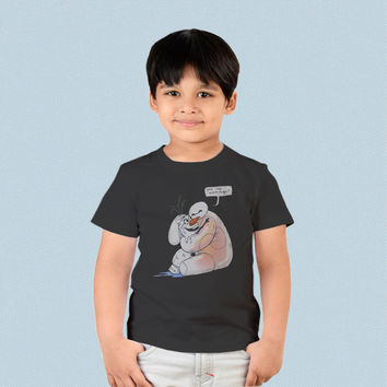 Kids T-shirt - Baymax and Olaf Big Hero 6