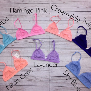 Trixie Bralette NEW COLORS: Multiple Colors