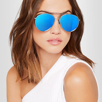Gentle Monster - Big Bully aviator-style silver-tone mirrored sunglasses