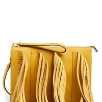 Women's Marni Leather Fringe Clutch