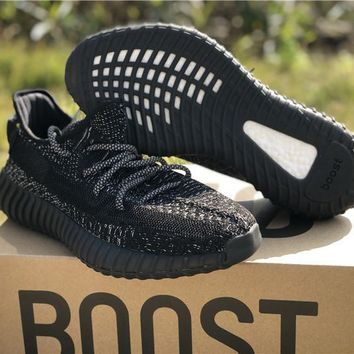 Adidas Yeezy Boost 350 v2 Static Reflective Black Sneakers - 36-46