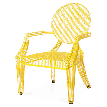 Urban Louie Chair, Yellow, Accent & Occasional Chairs