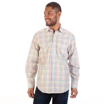 Bugatchi classic fit long sleeve checked from von maur for Von maur mens shirts