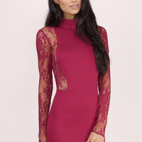 At First Sight Lace Bodycon Dress $54