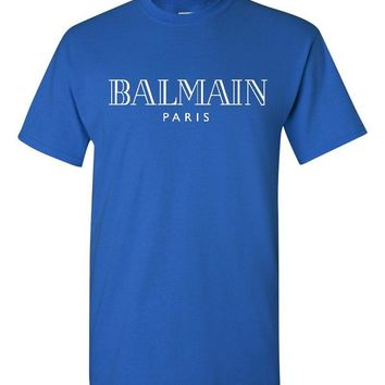 Balmain Paris Royal Blue T-Shirt
