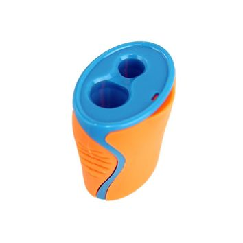 Kids Dual Hole Pencil Sharpener with Catcher - CASE OF 240