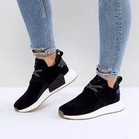 adidas Originals NMD C2 Trainers In Black Suede at asos.com