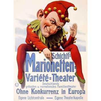 German Marionette Puppet Theater Poster
