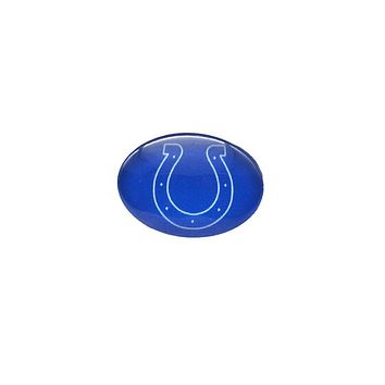Glass Snap Button 18mmX25mm Indiana Colts Charms Snaps Bracelet for Women Men Football Fans Gift Paty Birthday Fashion 2017